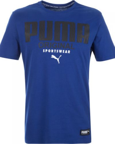 Спортивная футболка хлопковая прямая Puma