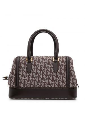 Beżowa torebka skórzana Christian Dior
