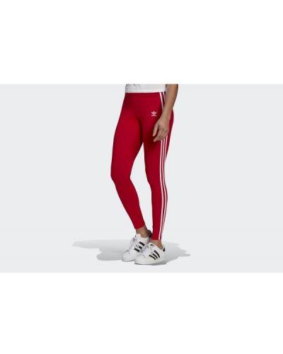 Rajstopy bawełniane - czerwone Adidas