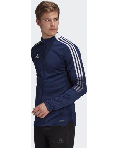Футбольная синяя куртка Adidas