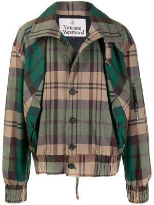 Długa kurtka na gumce tartan Vivienne Westwood