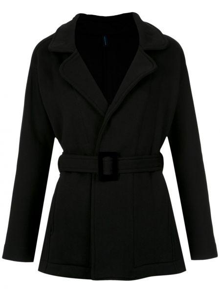 Черное пальто классическое с капюшоном Lygia & Nanny