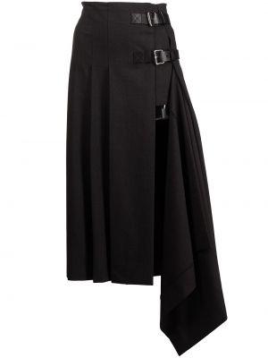 Шерстяная юбка миди - серая Monse