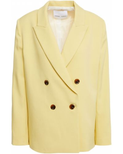 Желтый пиджак двубортный с подкладкой SamsØe Φ SamsØe