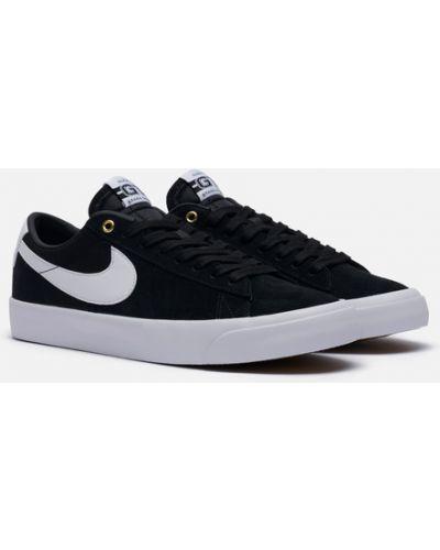 Черные замшевые кроссовки Nike Sb