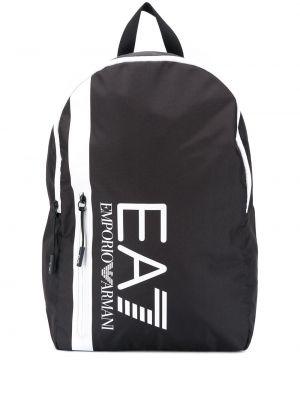 Черная сумка на молнии с карманами Ea7 Emporio Armani