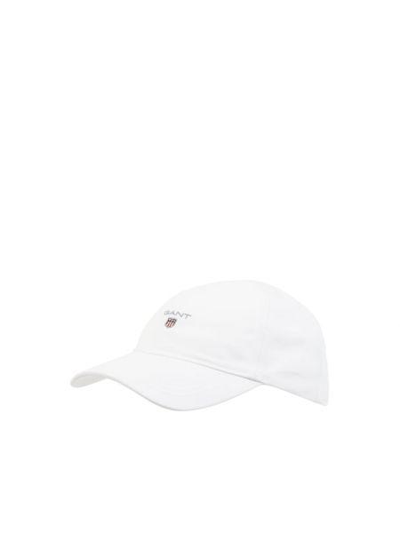 Biała czapka bawełniana Gant