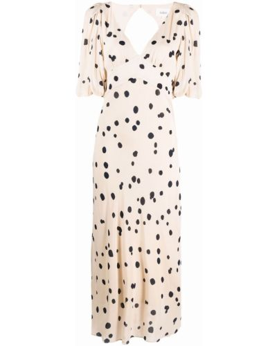 Sukienka długa w grochy - biała Ba&sh