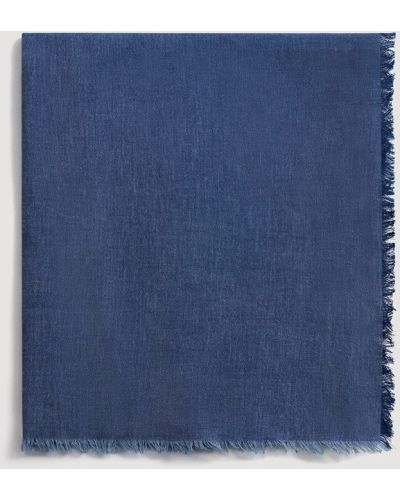 Синий шарф Mango Man