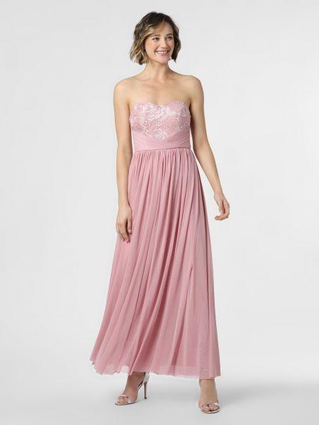 Różowa sukienka wieczorowa koronkowa Lipsy