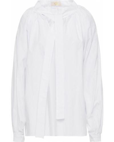 Плиссированная белая блузка на пуговицах Sara Battaglia