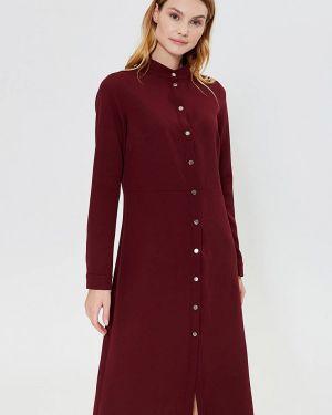 Платье бордовый платье-рубашка Lavlan