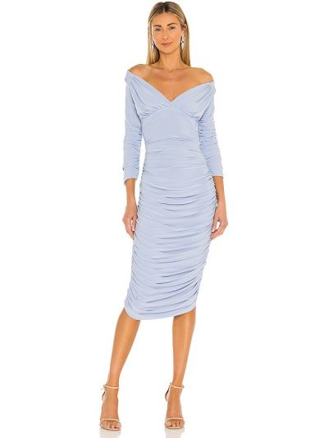 Шелковое платье - синее Norma Kamali