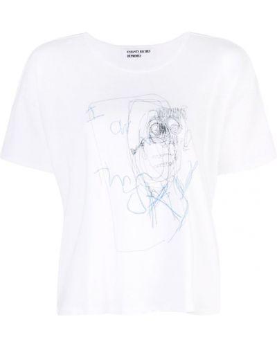 Футбольная футболка со стразами со спущенными плечами Enfants Riches Déprimés