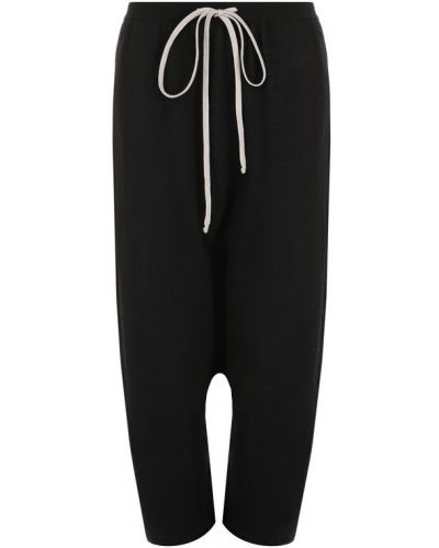 Укороченные брюки кашемировые шерстяные Rick Owens