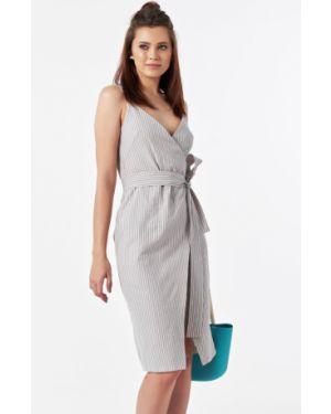 Платье с поясом с запахом на бретелях Fly