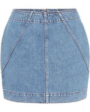 Синяя плиссированная джинсовая юбка винтажная Philosophy Di Lorenzo Serafini