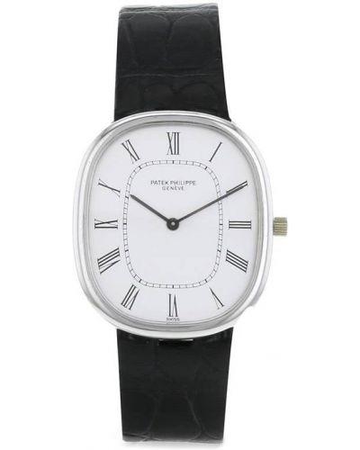 Черные с ремешком кожаные часы Patek Philippe