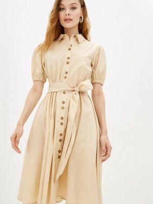 Платье рубашка - бежевое Gloss