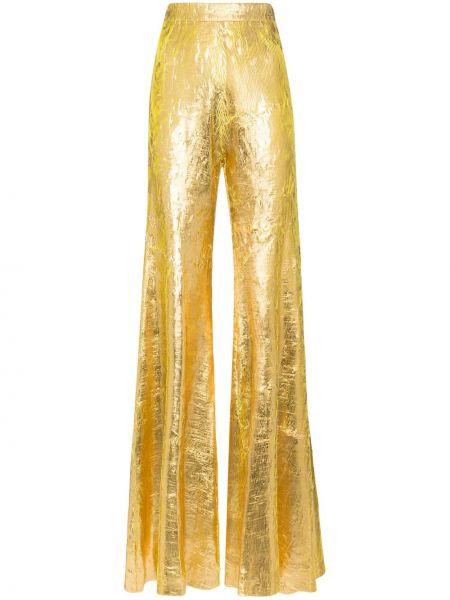 Złote spodnie rozkloszowane Halpern