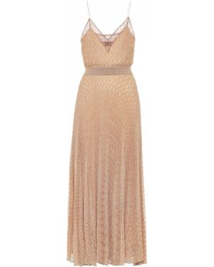 Платье миди вязаное бежевое Missoni