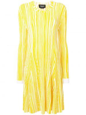 Sukienka długa rozkloszowana w paski z długimi rękawami Calvin Klein 205w39nyc