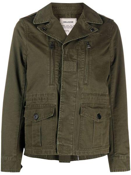 Зеленая куртка милитари на молнии Zadig&voltaire