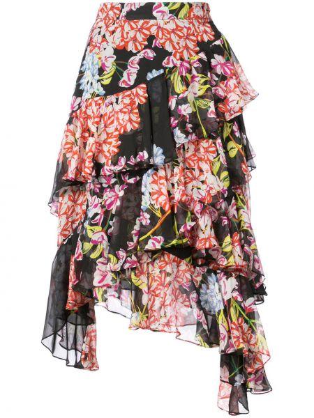 Черная юбка каскадная Josie Natori