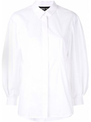 Приталенная рубашка с длинным рукавом - белая Paule Ka