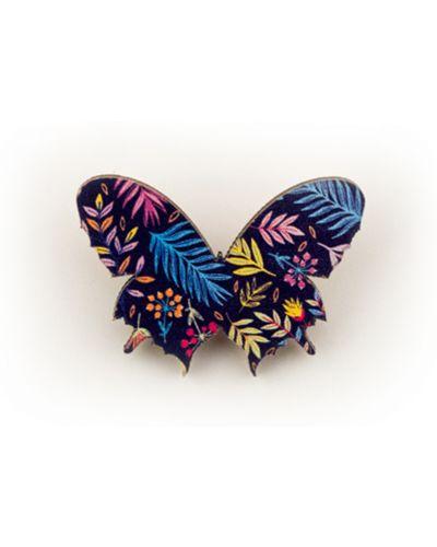 Фиолетовый брелок с бабочкой в цветочный принт Orlando