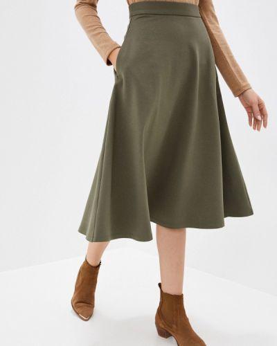 Зеленая юбка свободного кроя Trendyangel