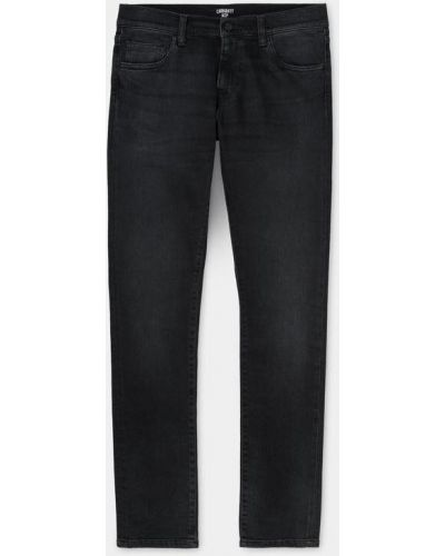 Повседневные хлопковые черные джинсы-скинни Carhartt Wip