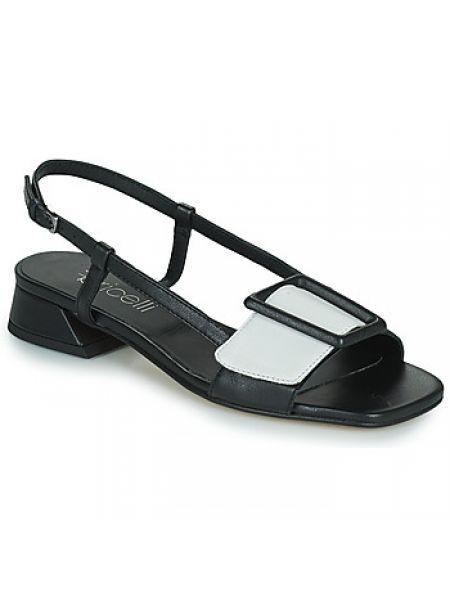 Czarne sandały Fericelli