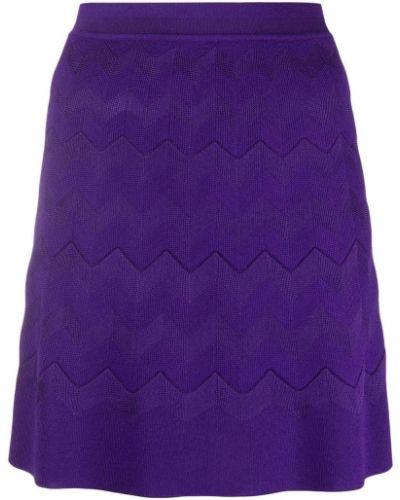 Fioletowa spódnica wełniana Missoni