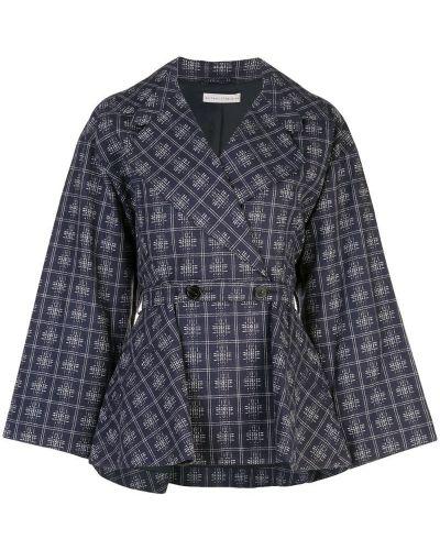 Синий удлиненный пиджак с баской Palmer / Harding