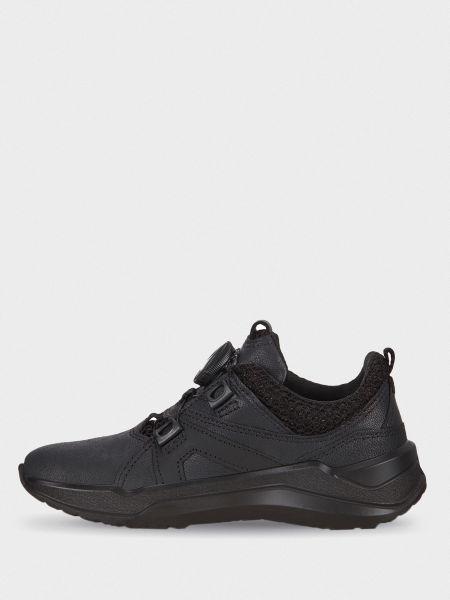 Кожаные кроссовки - черные Ecco