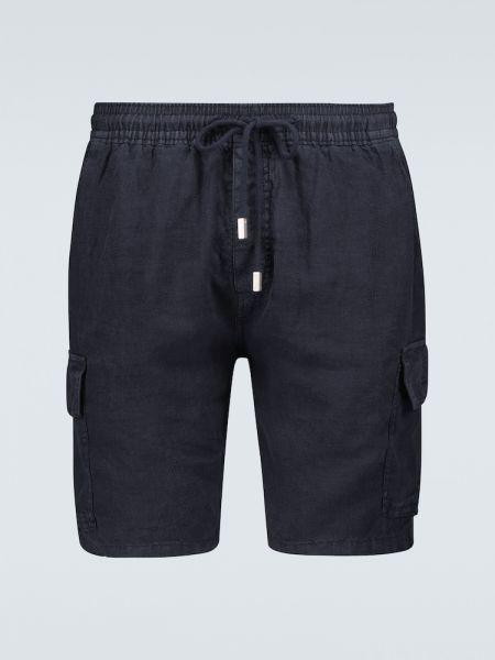 Льняные шорты - синие Vilebrequin