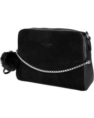 Замшевая сумка - черная David Jones