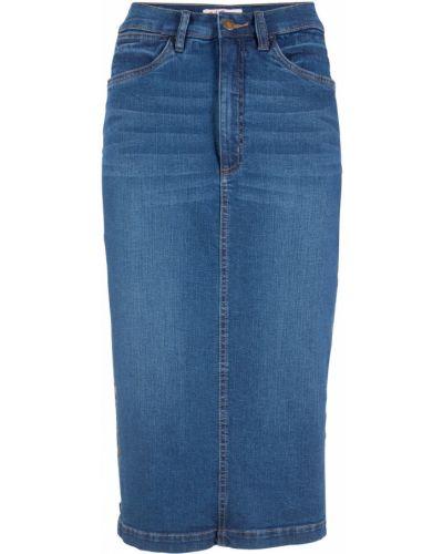 Джинсовая юбка - синяя Bonprix