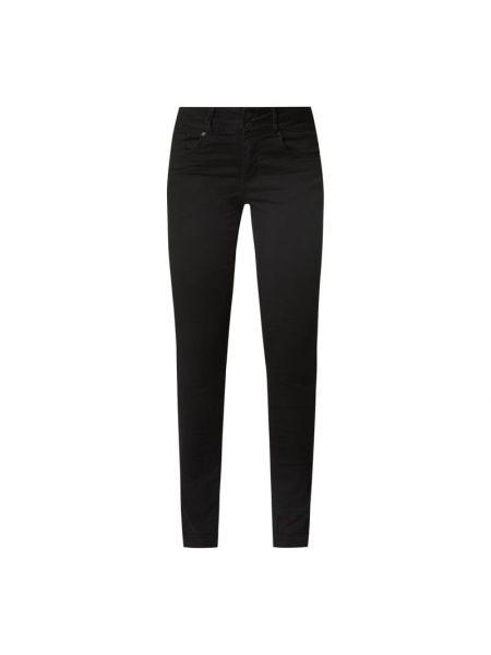 Czarne spodnie bawełniane zapinane na guziki Buena Vista
