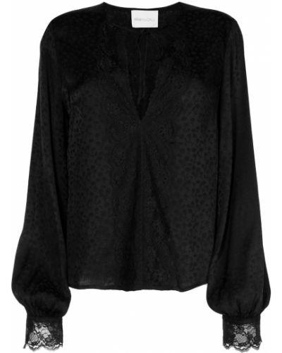 Кружевная черная блузка из вискозы Alice Mccall