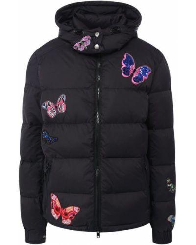 Куртка с капюшоном черная стеганая Valentino