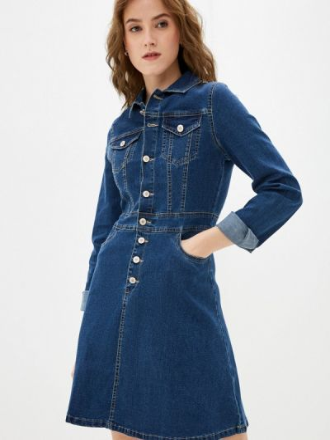 Синее зимнее платье Softy