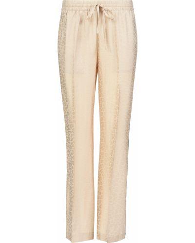 Шелковые брюки - бежевые Zadig & Voltaire