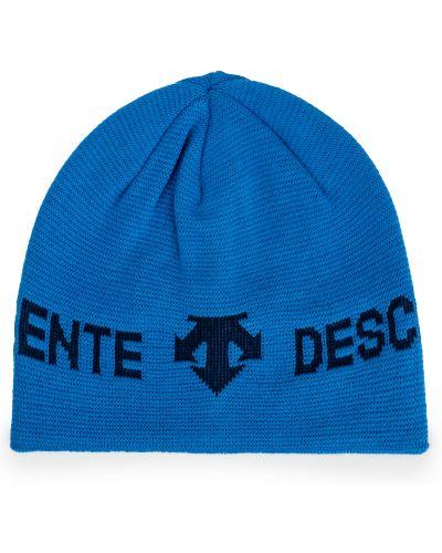 Niebieska czapka z akrylu Descente