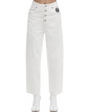 Джинсы клеш расклешенные - белые Mm6 Maison Margiela
