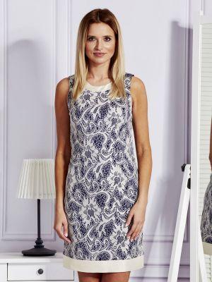 Niebieska sukienka wieczorowa koronkowa sylwestrowa Fashionhunters