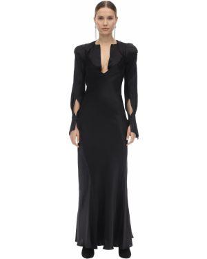 Расклешенное приталенное платье миди с вырезом на молнии Olivier Theyskens
