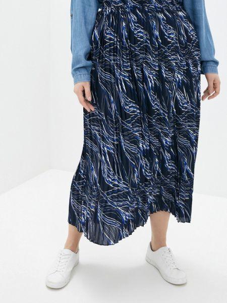 Плиссированная юбка синяя весенняя Ulla Popken