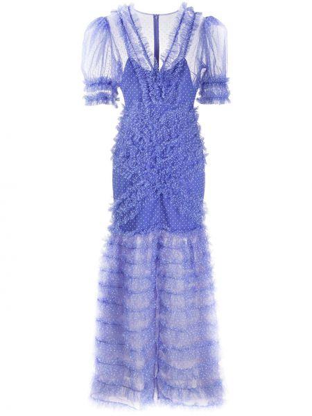 Платье мини в горошек с V-образным вырезом Alice Mccall